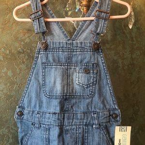 NEW w Tags! Osh Kosh overalls blue jean pinstripe